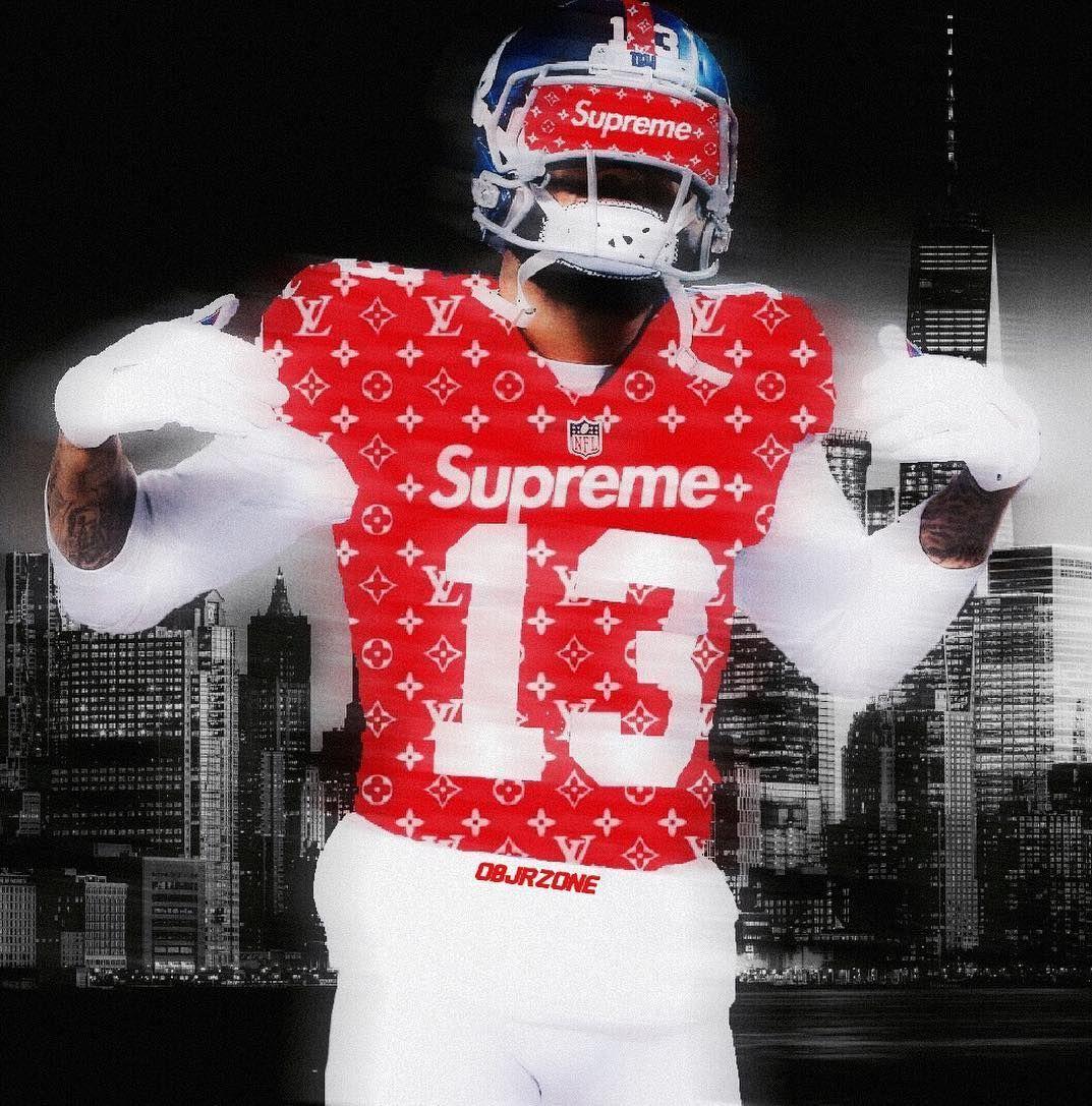 Iphone Supreme Football Wallpaper In 2020 Beckham Football Odell Beckham Jr Wallpapers Football