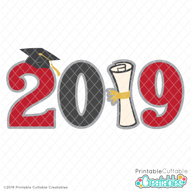 Download Graduation 2019 Title Free SVG File & Clipart for Cricut ...
