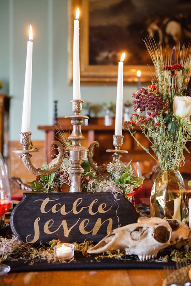 Gothic Wedding Ideas Table Names Amp Numbers Gothic