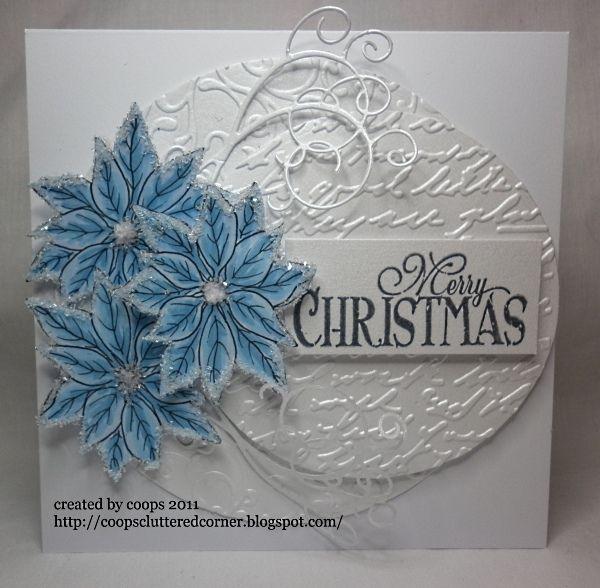 Coops Cluttered Corner December 2011 Christmas Cards To Make Christmas Card Design Christmas Cards Handmade