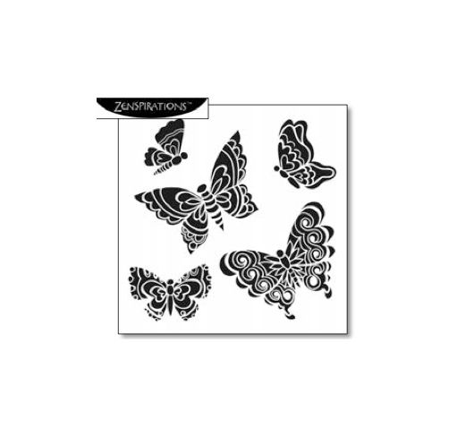 The Crafter\u0027s Workshop - 6 x 6 Doodling Template - Solid Butterflies