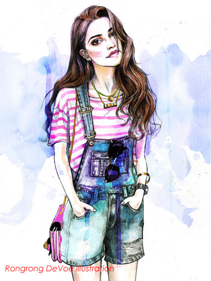 Custom portrait Custom Fashion by RongrongIllustration on Etsy