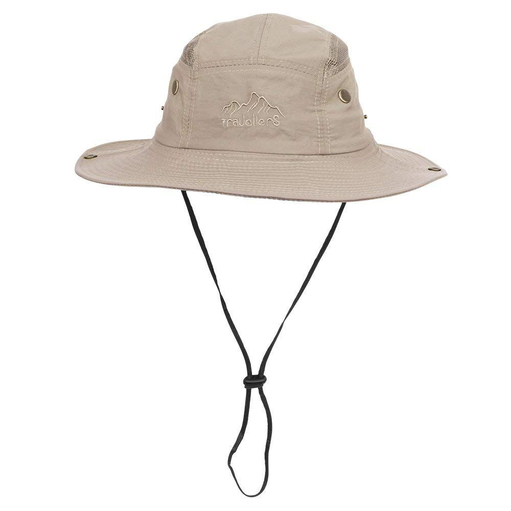 e8e783dd5d0 Vadventure Summer Mens and Womens Safari Hat Wide Brim Waterproof Fishing  Caps Sun Protection Boonie Hats for Hunting Hiking Camping and Travelling