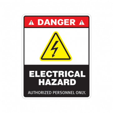 Danger Electrical Hazard Authorized Personnel Only 18628 Stiker