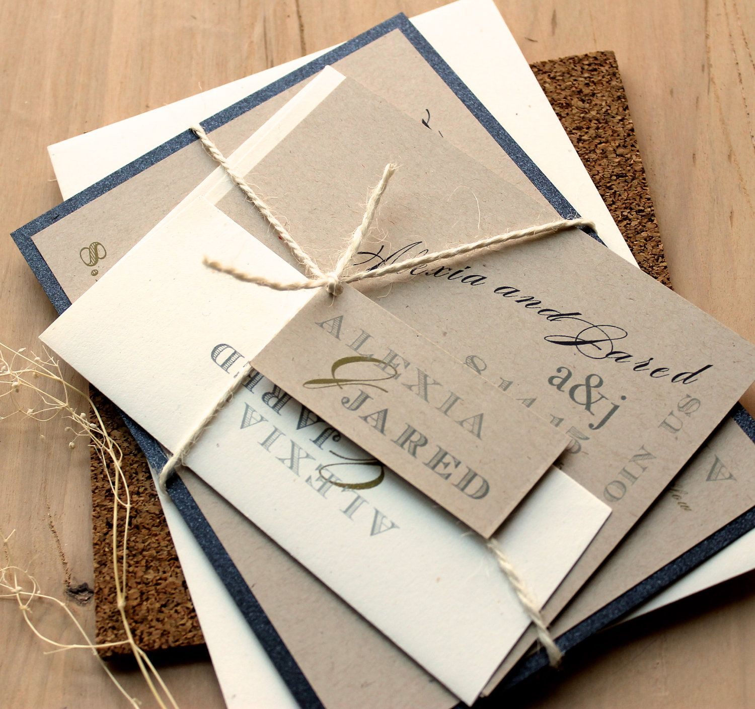 Rustic Black & White - Eco-Friendly Rustic Wedding Invitations ...