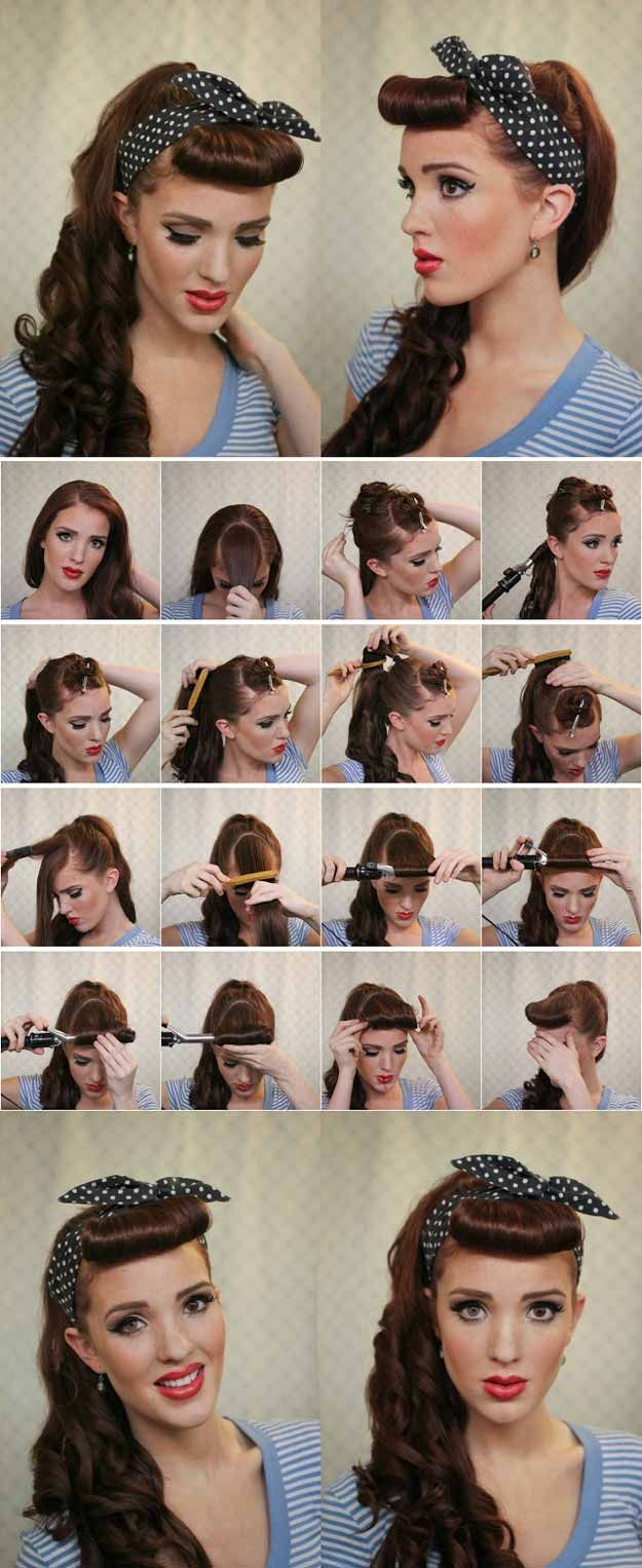 31 Cute Hairstyles You Can Do With A Scarf | Short hair, Red heads ...