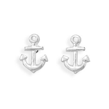 These Por Anchor Earrings Are Made Of Polished Sterling Silver Earring Dimensions X