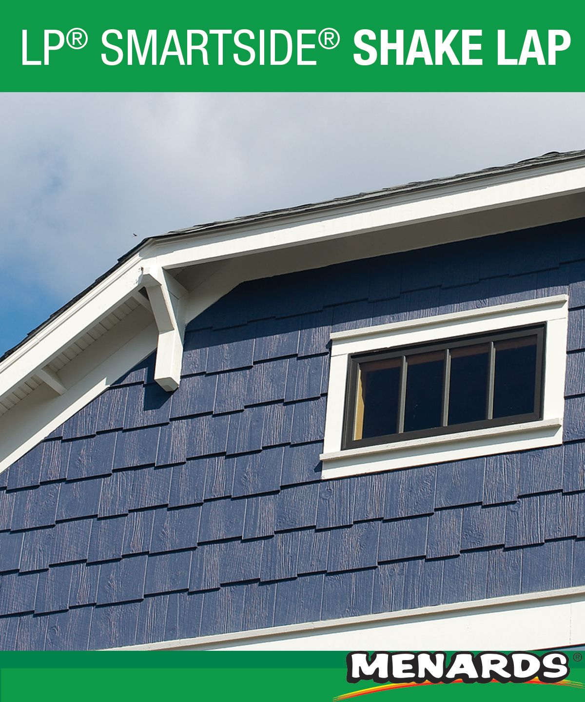 Lp Smartside 7 16 X 12 X 48 Reversible Cedar Texture Fiber Shake Siding Offers The Beautiful Look Of Real C Engineered Wood Siding Wood Siding Curb Appeal