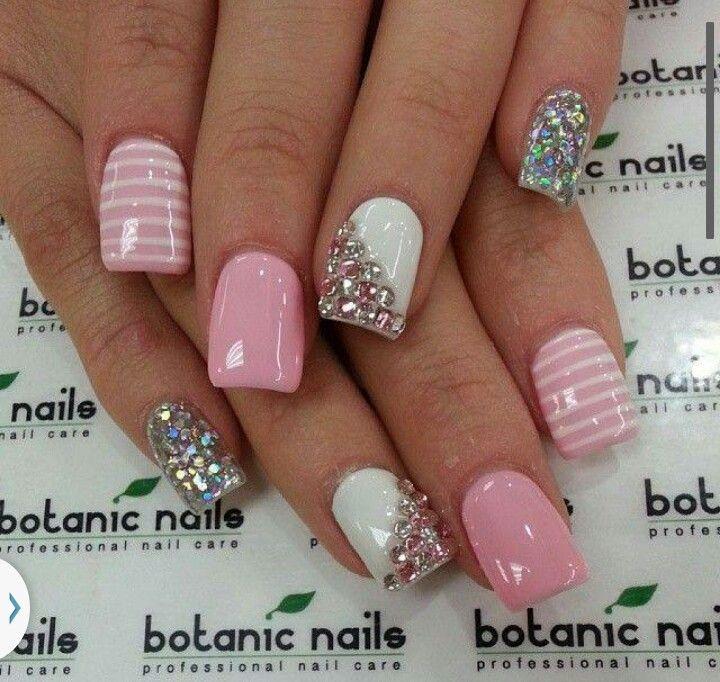 Pin by Elyzabeth Mendoza on Nail Trends | Pinterest | Jewel nails ...