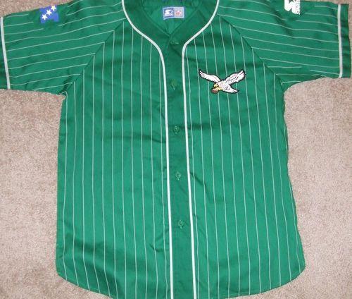 49e81a79 Details about PHILADELPHIA EAGLES Vtg 90s Baseball STARTER Kelly ...