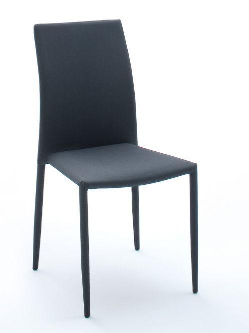 MIA Stuhl \/ Stapelstuhl Stoffbezug schwarz\/grau Esszimmer - esszimmer in grau