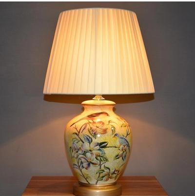 Ceramic table lamp on sale at reasonable prices buy ceramic table lamp bedroom bedside lamp colored drawing chinese style american remote control from