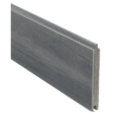 Veranda 0 41 Ft H X 5 91 Ft W Euro Style Oxford Grey Tongue And Groove Composite Fence Board Ef 00200 A The Home Depot Fence Panels Privacy Fence Panels Horizontal Fence