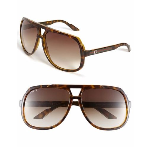d47b07d006 Logo Temple Aviator Sunglasses by Gucci (as worn by Jonah Hill in War Dogs)  Gucci GG 1018 S in havana brown