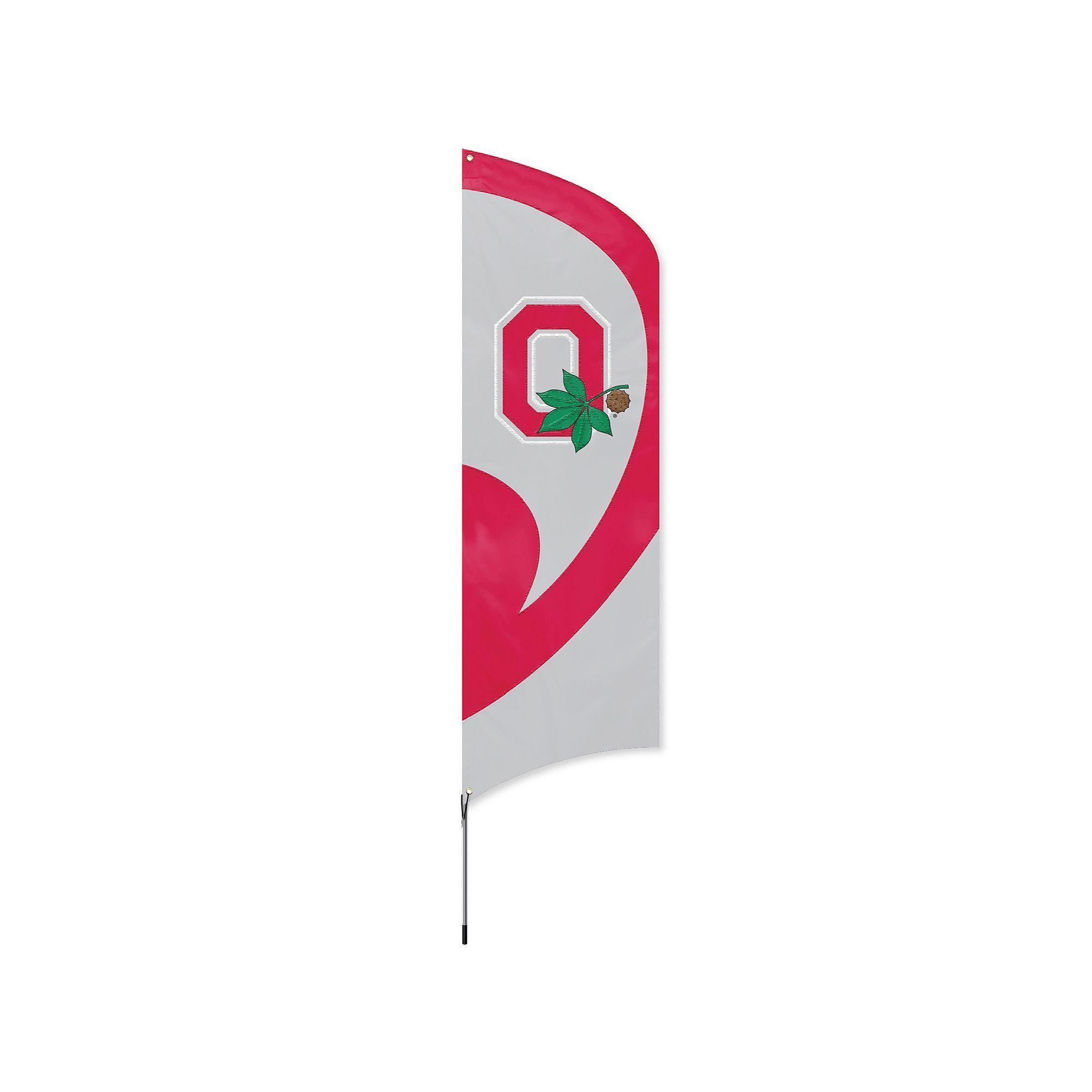 new concept b7b09 ba6e2 Ohio State Buckeyes Tall Team Flag, Multicolor   Products ...