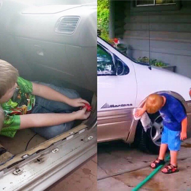 Car care can be fun for kids! As well as tactile learning, car care helps kids learn responsibility and the importance of maintenance.