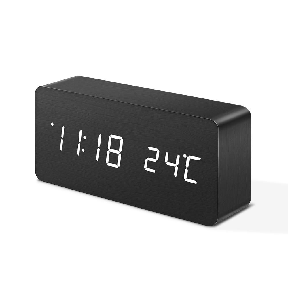 Digoo Dg Ac2 3 Mode Wooden Voice Control Led Digital Alarm Clock Multifunctional Display Time Temperature Desk Clock Home Decor From Home And Garden On Banggood Alarm Clock Digital Alarm Clock Cool