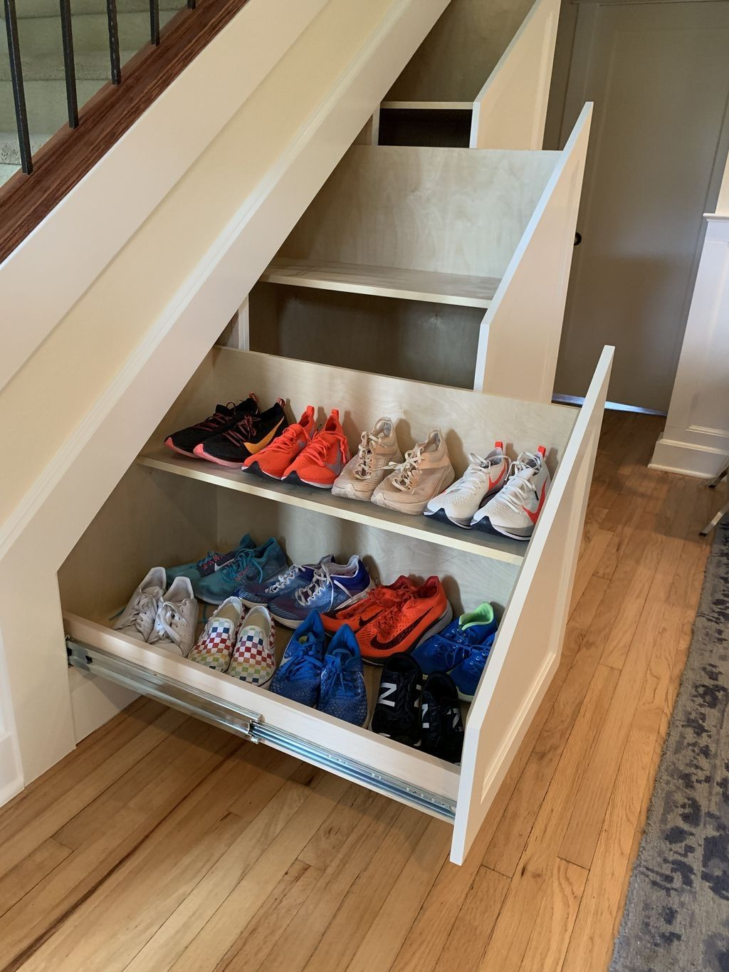 20 Awesome Shoe Rack Ideas On Stairs For You Diy Shoe Rack