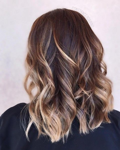 16 trendiest hairstyles for medium length hair frisur for Balayage bob braun