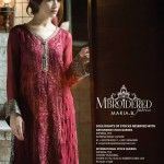 Maria B Mbroidered Silk Chiffon Eid Collection Unstitched 2014
