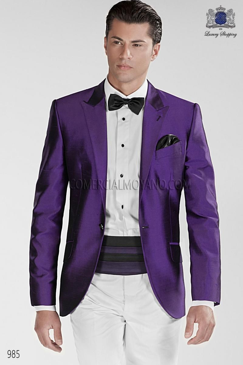 Classic-Style-One-Button-font-b-Purple-b-font-Groom-font-b-Tuxedos-b ...