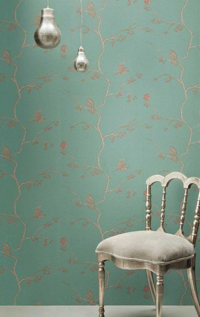 Les papiers peints design en 80 photos magnifiques avec - Papier peint contemporain chambre ...