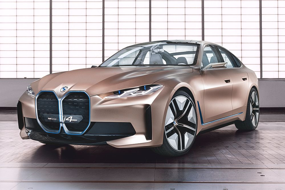 Bmw Concept I4 Gran Coupe 530 Hp Electric Concept In 2020 Bmw Concept Electric Car Concept Bmw I