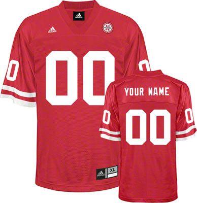 online retailer b56be 69025 Nebraska Cornhuskers Football Jersey Customizable adidas Red ...