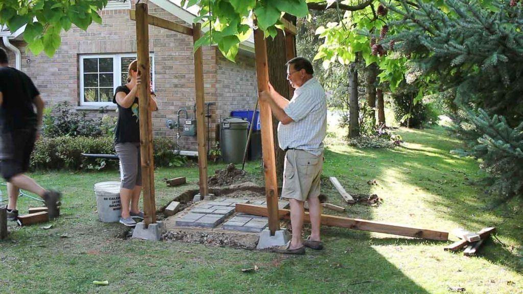 Diy outdoor shower enclosure plans with video outdoor