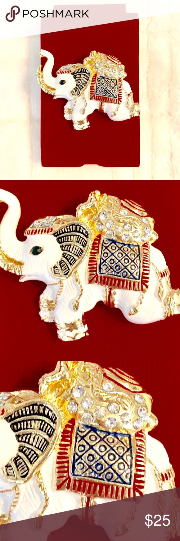 New Item Thailand Elephant Pin Red White Blue Elephant Pin Thailand Elephants Elephant