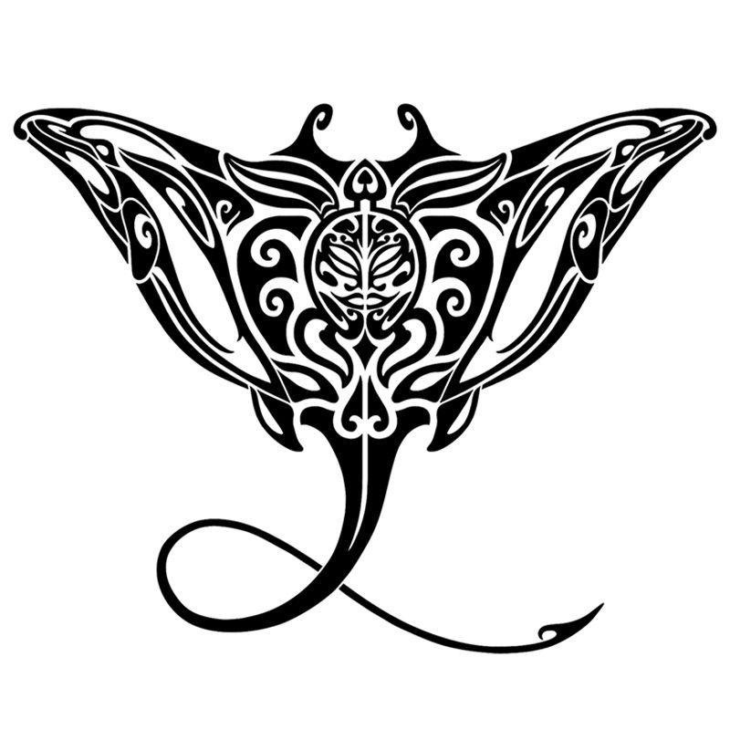 1c91b764d6be9 Tribal Manta Ray Mosaic - Pool Mosaic | tribal | Manta ray tattoos ...