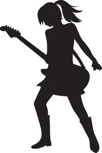 Pin Guitar Player Coloring Page Sheets On Pinterest Silhouette