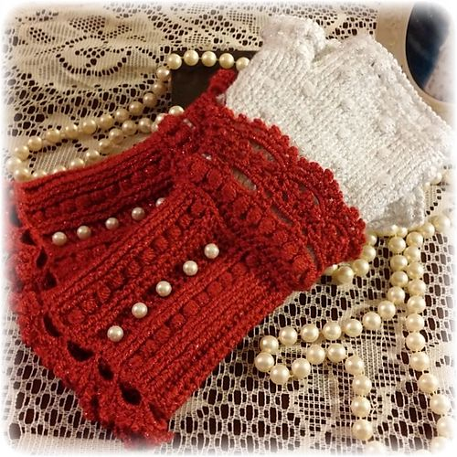 crochet Ravelry: Lacy Victorian Gloves pattern by Esthermay Bentley-Goossen