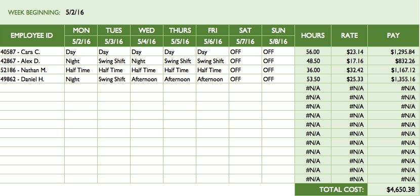 roster template excel download excel perks online free excel