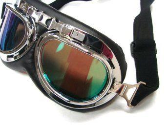 WWII Raf Vintage Pilot Motorcycle Biker Cruiser Goggles
