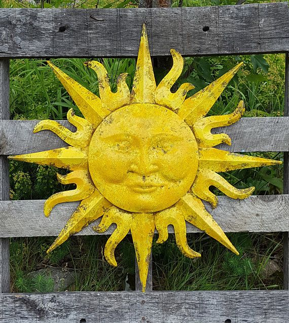 Garden Decor, Metal Sun Wall Art, Outdoor Wall Art, Metal Sun Decor ...
