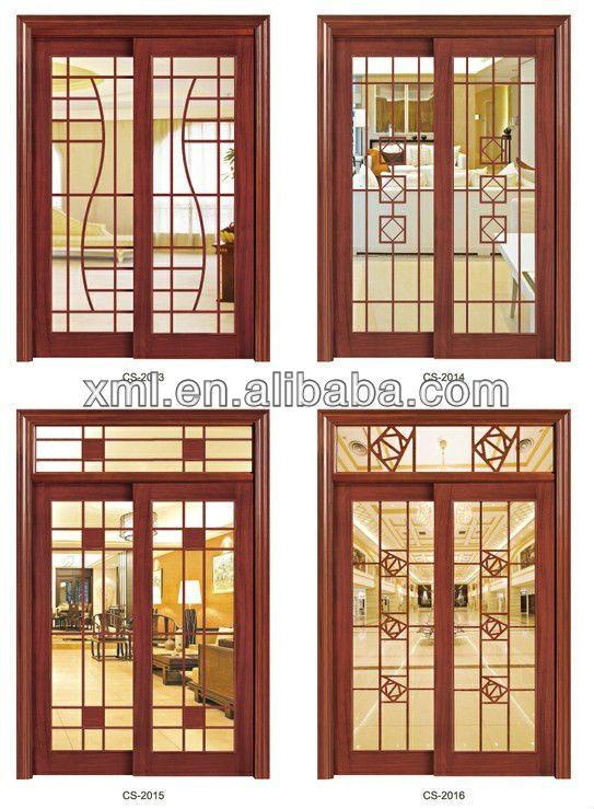 Vetro Decorativointernoinsertoin Legno Massello Porte Scorrevoli Porta Id Prodotto 745069815 Window Grill Design Home Window Grill Design Balcony Grill Design