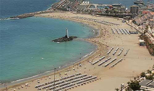 beach view Playa de Las Vistas Los Cristianos Tenerife  Los Cristianos, Tene...