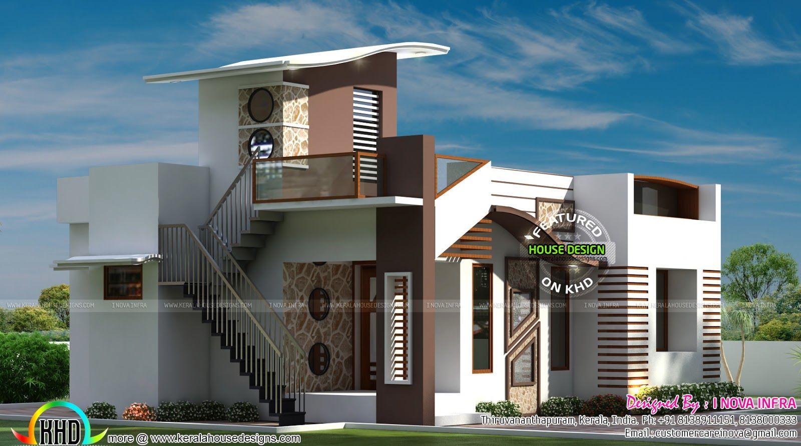 800 Sq Ft Budget Contemporary House Kerala House Design Contemporary House Contemporary House Design