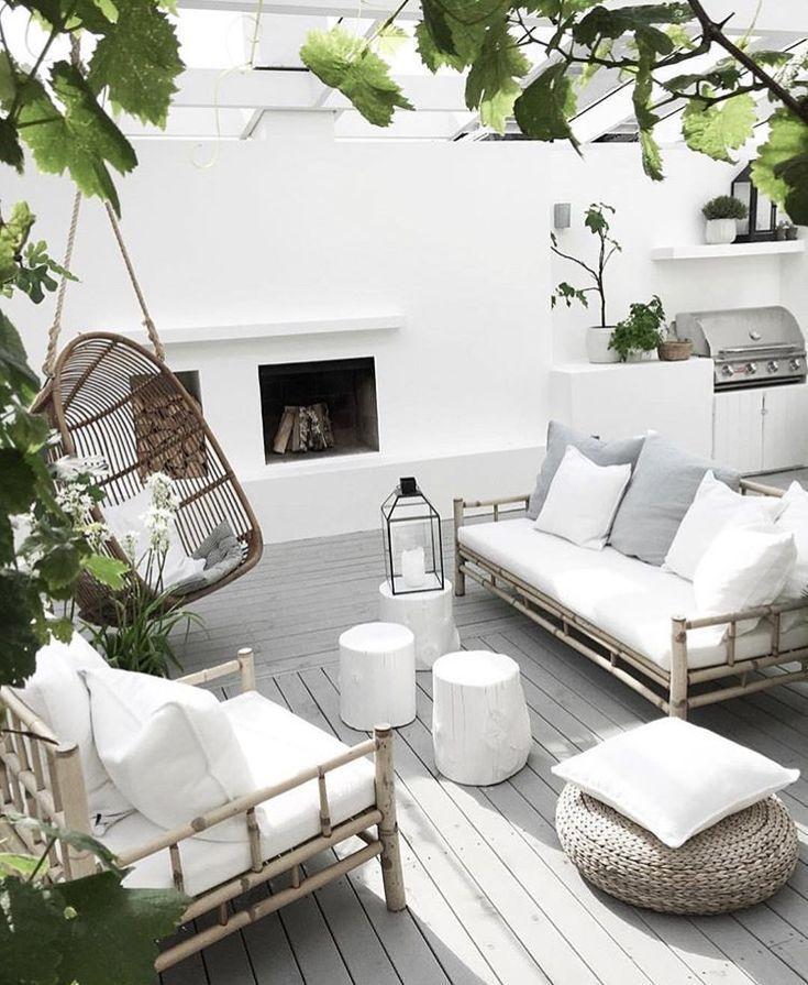 Photo of Bambus- hellweiße graue und grüne Farben – Terrasse ideen