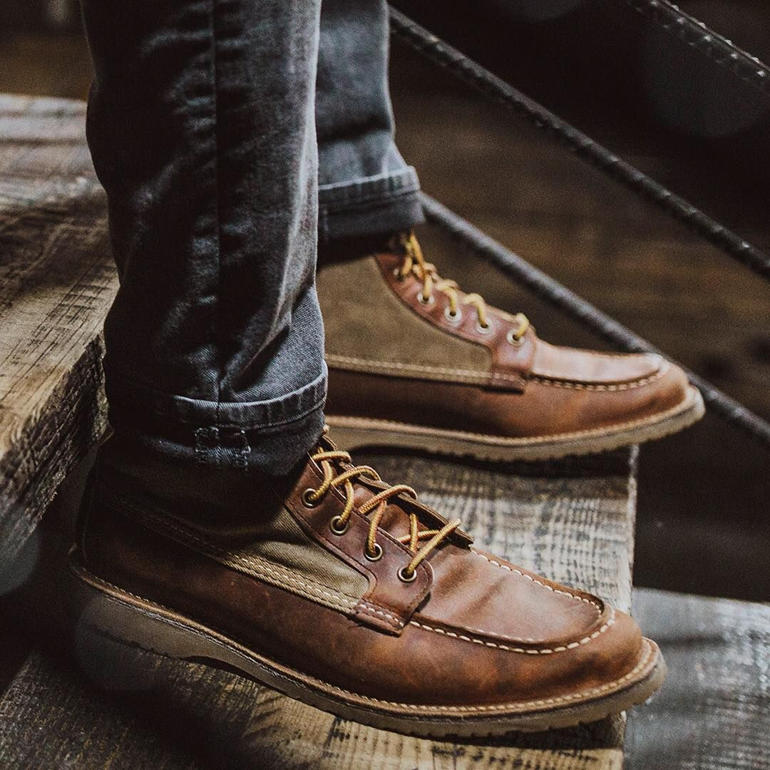 Moc toe boots, Red wing shoe stores