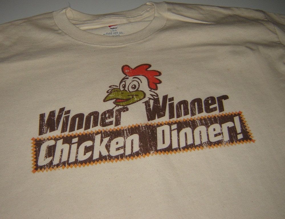 Check Out This Awesome Winner Winner Chicken Dinner: Cream Winner Winner CHICKEN DINNER Blackjack T Shirt By