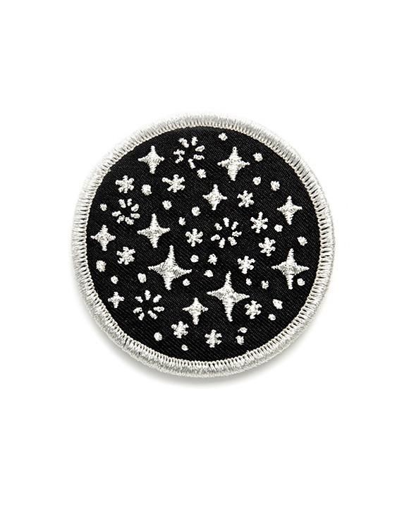 Glow Mountain Starry Sky Embroidered Sew Iron On Patch Badge The Dark Night DIY