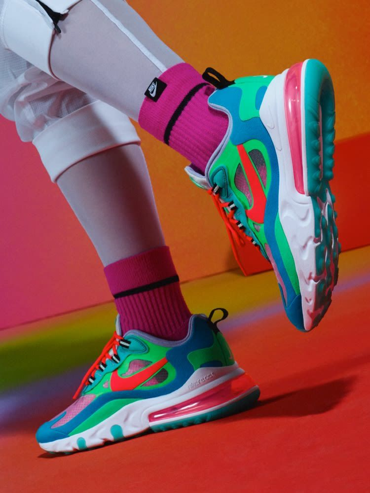women's shoe nike air max 270 react ( psychedelic movement )