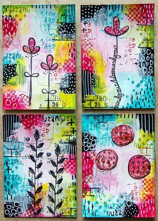DecoArt - Mixed Media Blog - Project - Floral Concertina #artjournalmixedmediainspiration