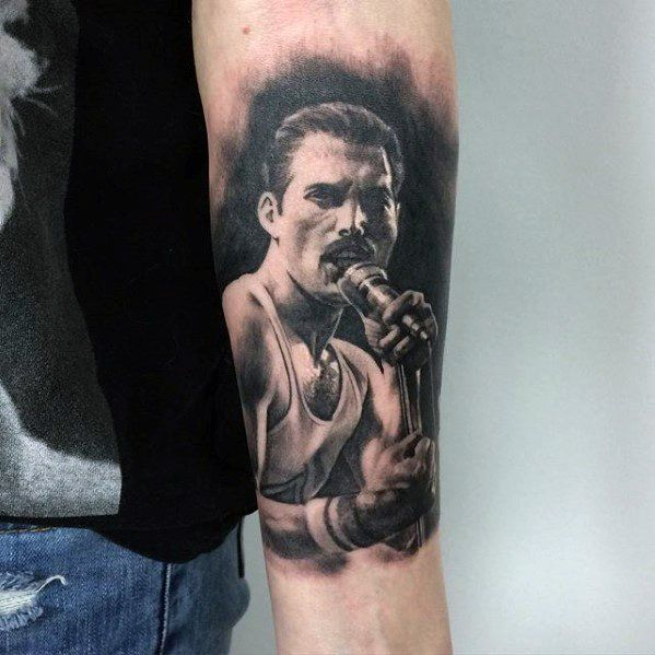40 Freddie Mercury Tattoo Designs Fur Manner Queen Ink Ideen