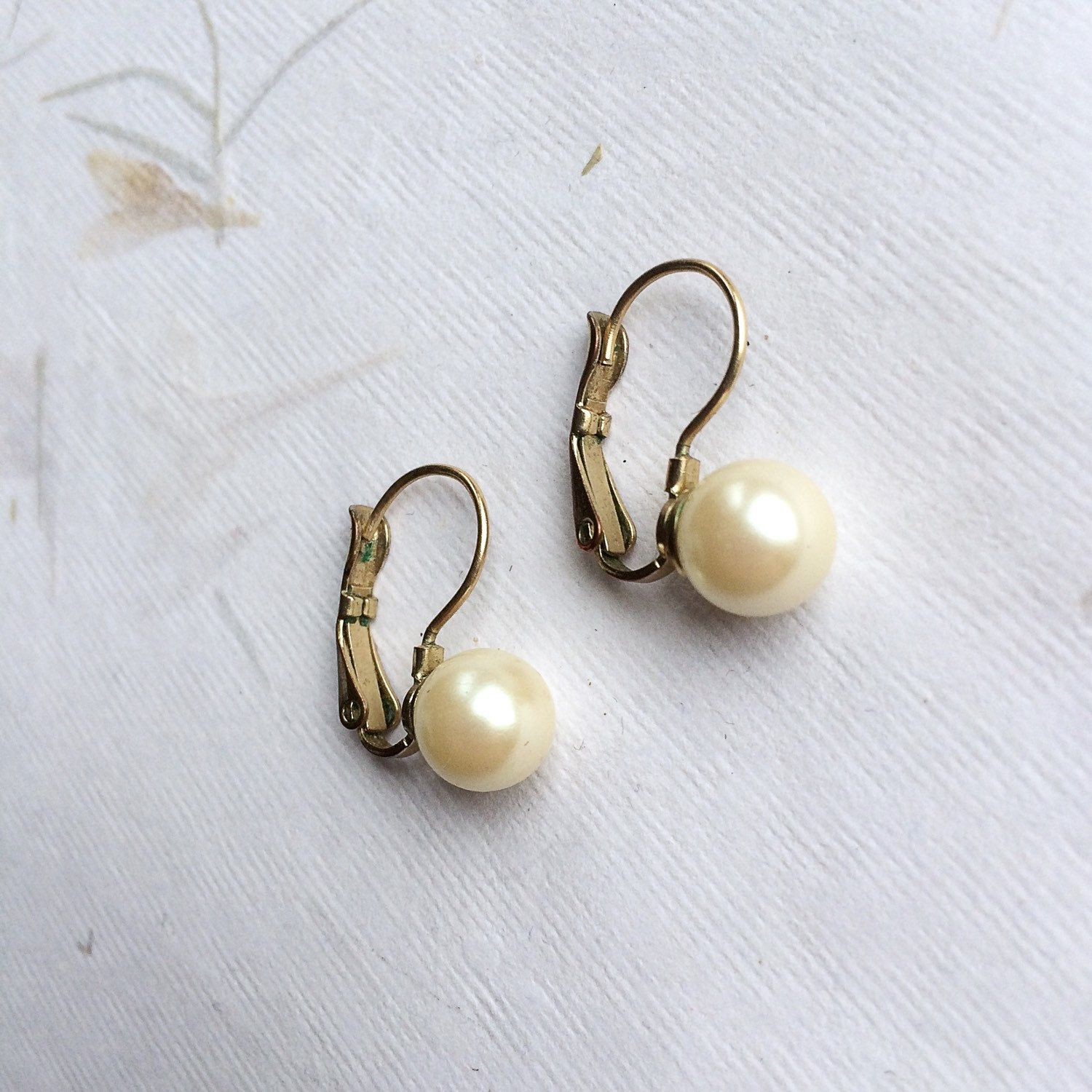 metallic earrings pearl gold darcey earring jewelry chloe faux lyst single s in women chlo
