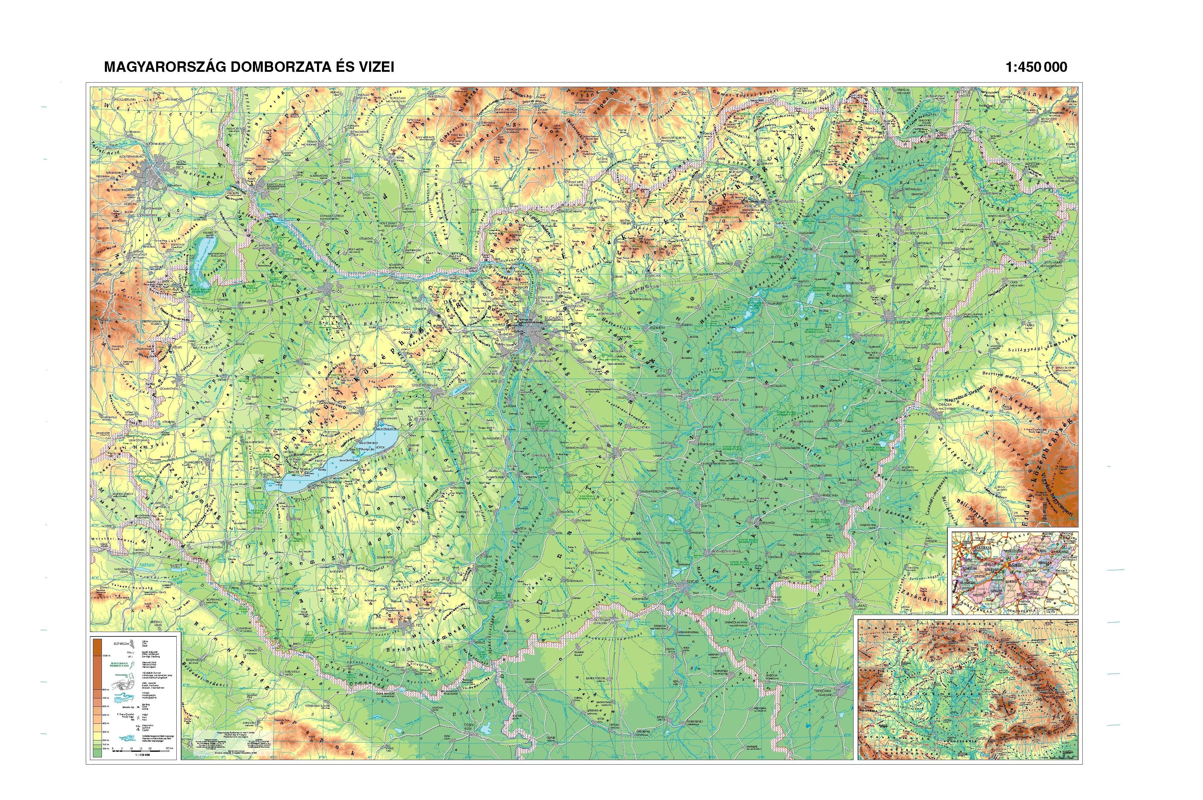 magyarország magassági térkép http://.hibernia.hu/falit/mo_domb. | Környezetismeret  magyarország magassági térkép