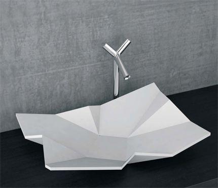 Objekt der woche eumar origami badgefl ster for Badezimmer corian
