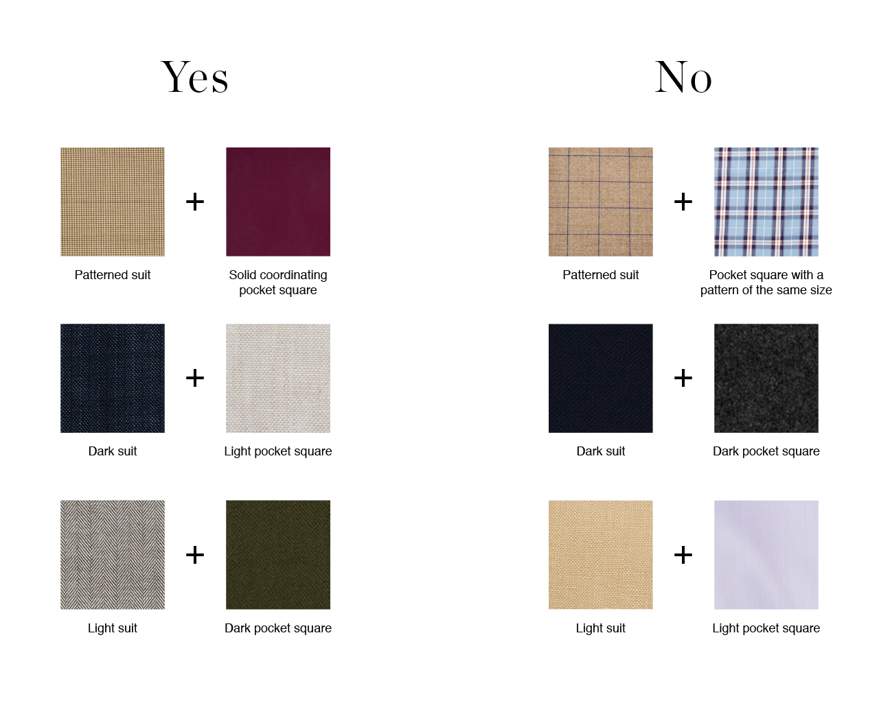 Pocket Square Colors That Match Wardrobe Pinterest